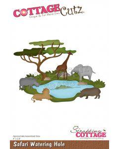 Rezalna šablona CottageCutz Safari Watering Hole