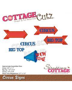 Rezalna šablona CottageCutz Circus Signs