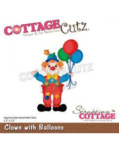 Rezalna šablona CottageCutz Clown With Balloons