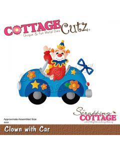 Rezalna šablona CottageCutz Clown With Car