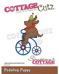 Rezalna šablona CottageCutz Pedaling Puppy