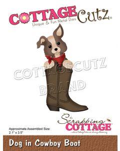Rezalna šablona CottageCutz Dog in Cowboy Boot
