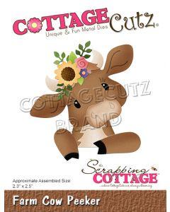 Rezalna šablona CottageCutz Farm Cow Peeker