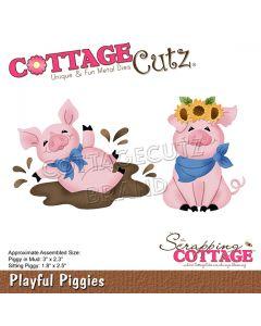 Rezalna šablona CottageCutz Playful Piggies