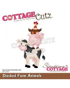 Rezalna šablona CottageCutz Stacked Farm Animals