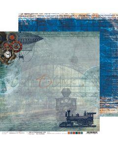 Dvostranski papir - AGE OF TECHNOLOGY 1 - 30,5 x 30,5 cm - 250g