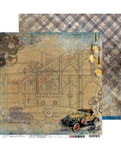 Dvostranski papir - AGE OF TECHNOLOGY 2 - 30,5 x 30,5 cm - 250g