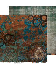 Dvostranski papir - AGE OF TECHNOLOGY 6 - 30,5 x 30,5 cm - 250g