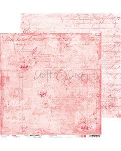 Dvostranski papir - PINK MOOD 02 - 30,5 x 30,5 cm - 250g