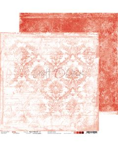 Dvostranski papir - RED MOOD 02 - 30,5 x 30,5 cm - 250g