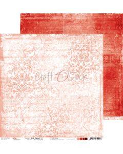 Dvostranski papir - RED MOOD 04 - 30,5 x 30,5 cm - 250g