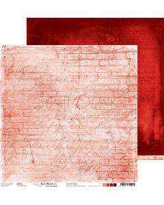 Dvostranski papir - RED MOOD 05 - 30,5 x 30,5 cm - 250g