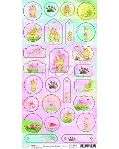Izrezki iz papirja - SUMMERTIME PICNIC - 15,5 x 30,5 cm - 26 izrezkov - 250g