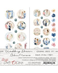 Papir za rezanje - LABEL KIT - 03 - WEDDING DREAM - 15,5x30,5cm - 250g - 4 listi