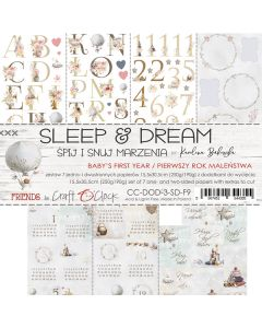 Set 7 papirjev za rezanje - SLEEP & DREAM III - 15,5 x 30,5 cm - 190g in 250g