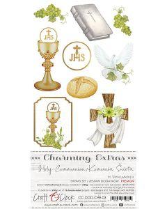 Set papirjev za rezanje - CHARMING EXTRAS 03 - HOLY COMMUNION - 15,5 x 30,5 cm - 250g - 12 listov