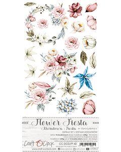 Set papirjev za rezanje - FLOWER FIESTA - dodatki - 15,5 x 30,5 cm - 250g - 2x6 listov