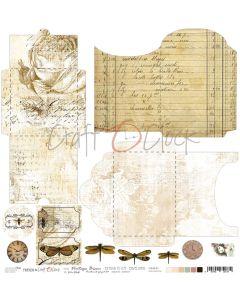 Papir za rezanje - VINTAGE BISOU - kuverte - 30,5 x 30,5 cm - 190g