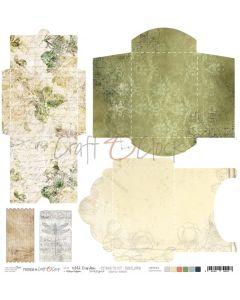 Papir za rezanje - WILD GARDEN - kuverte - 30,5 x 30,5 cm - 190g