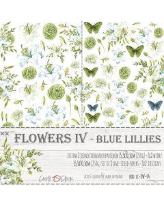 Set papirjev za rezanje - FLOWERS IV BLUE LILLIES