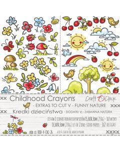 Set papirjev za rezanje - CHILDHOOD CRAYONS V FUNNY NATURE