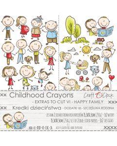 Set papirjev za rezanje - CHILDHOOD CRAYONS VI HAPPY FAMILY