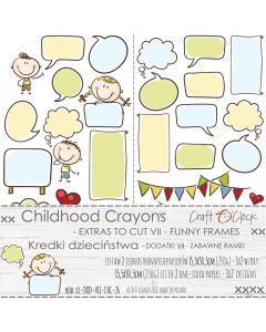 Set papirjev za rezanje - CHILDHOOD CRAYONS VII FUNNY FRAMES