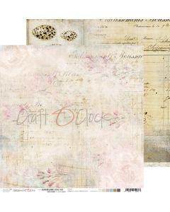 Dvostranski papir - HUMMINGBIRD SONG 4 - 30,5 x 30,5 cm - 250g