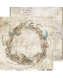 Dvostranski papir - HUMMINGBIRD SONG 5 - 30,5 x 30,5 cm - 250g