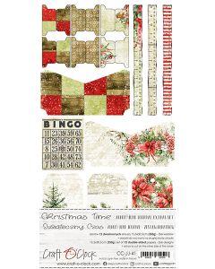 Set papirjev za rezanje - CHRISTMAS TIME - JUNK JOURNAL SET - 15,5 x 30,5 cm - 250g - 12 listov
