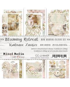 Set papirjev za rezanje - BLOOMING RETREAT - JUNK JOURNAL SET - 15,5 x 30,5 cm - 190g in 250g - 6 listov