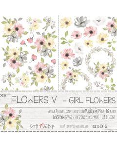 Set papirjev za rezanje - FLOWERS V GIRL FLOWERS