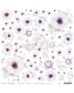 Papir za rezanje - FLOWERS VII 30,5 x 30,5 cm