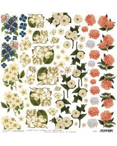 Papir za rezanje - FLOWERS VIII 30,5 X 30,5 cm