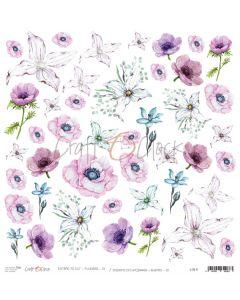 Papir za rezanje FLOWERS IX - 30,5 x 30,5 cm - 250g