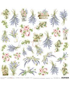 Papir za rezanje - FLOWERS XVI - 30,5 x 30,5 cm - 250g