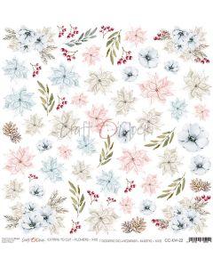 Papir za rezanje - FLOWERS 22 - 30,5 x 30,5 cm - 250g