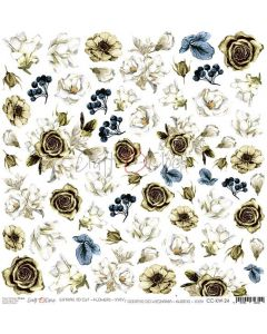 Papir za rezanje - FLOWERS 24 - 30,5 x 30,5 cm - 250g