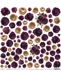 Papir za rezanje - FLOWERS 25 - 30,5 x 30,5 cm - 250g