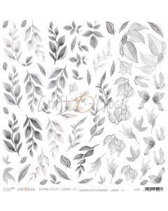 Papir za rezanje - LEAVES IV 30,5 x 30,5 cm