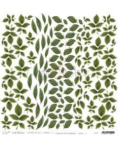 Papir za rezanje - LEAVES V 30,5 x 30,5 cm