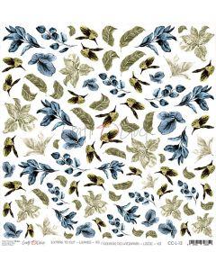 Papir za rezanje - LEAVES 12 - 30,5 x 30,5 cm - 250g