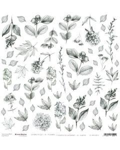 Papir za rezanje - MM 11 FLOWERS - 30,5 x 30,5 cm - 250g