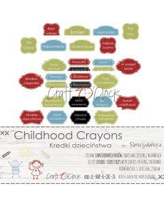 Set papirjev za rezanje - CHILDHOOD CRAYONS QUOTES IN FRAMES