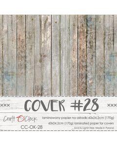 Papir za platnice - COVER 28 - laminiran - 60 x 24,2 cm - 170g