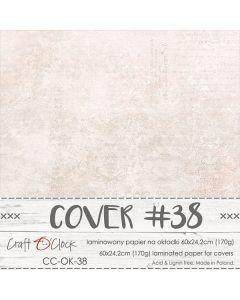 Papir za platnice - COVER 38 - laminiran - 60 x 24,2 cm - 170g