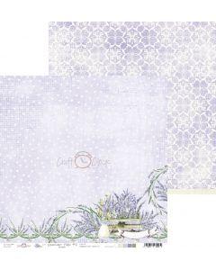 Dvostranski papir - LAVENDER HILLS 02 - 30,5 x 30,5 cm - 190g