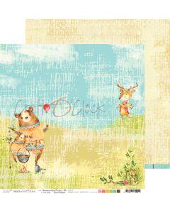 Dvostranski papir - SUMMERTIME PICNIC 05 - 30,5 x 30,5 cm - 250g