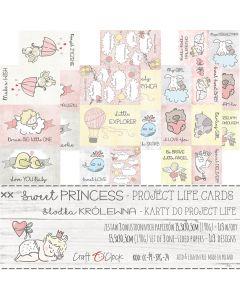 Set papirjev s karticami za rezanje - SWEET PRINCESS