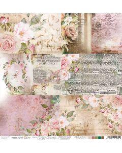 Papir za rezanje - VINTAGE TREASURE - kartice - 30,5 x 30,5 cm - 190g